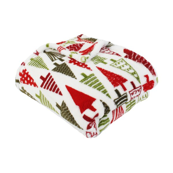 Dennis Christmas Trees Printed Throw by The Holiday Aisle