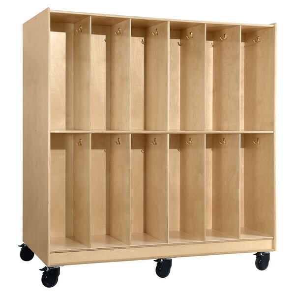 Mobile 5 Wide Kids Locker by Wood Designs