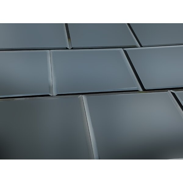 Echo 8 x 8 Glass Field Tile in Graphite Matte by Abolos
