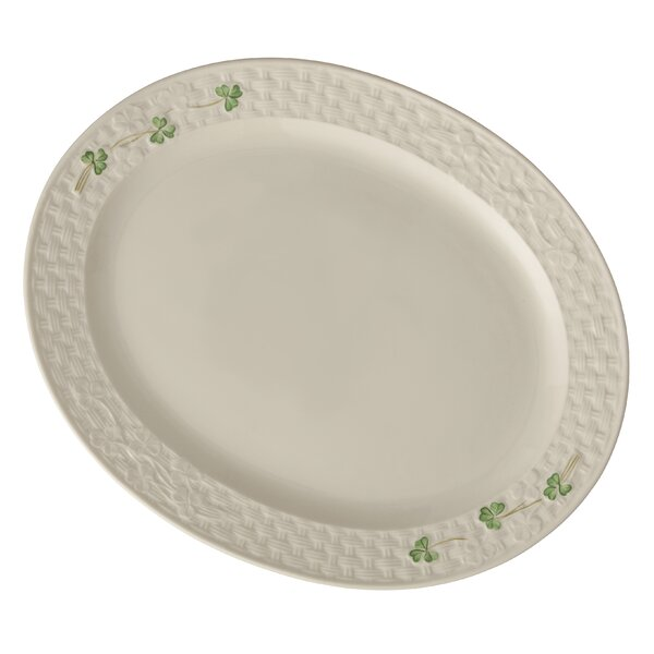 Shamrock Oval Platter by Belleek Group