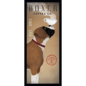 'Boxer Coffee Company' by Ryan Fowler Framed Vintage Advertisement by Winston Porter