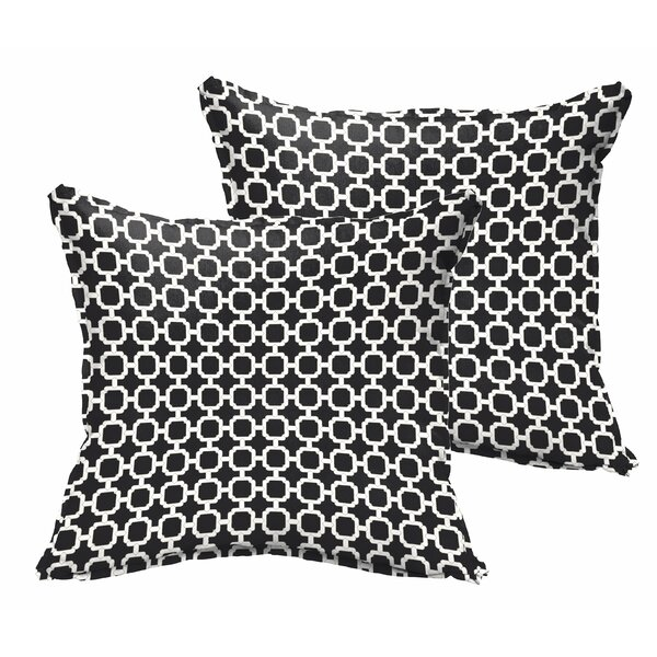 Samantha Geometric Indoor/ Outdoor Throw Pillows (Set of 2) by Latitude Run