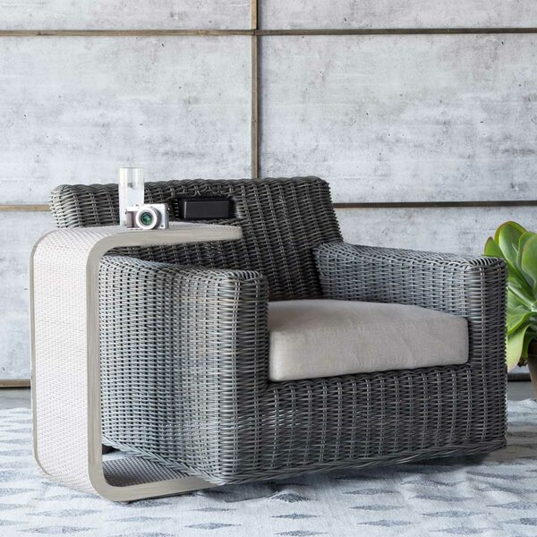 Rustic Swivel Patio Chair with Cushions by Summer Classics Summer Classics