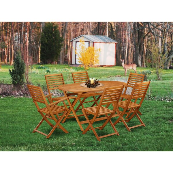 Trever 7 Piece Patio Dining Set by Longshore Tides