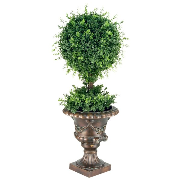 Tea Leaf Ball Topiary in Urn by Astoria Grand