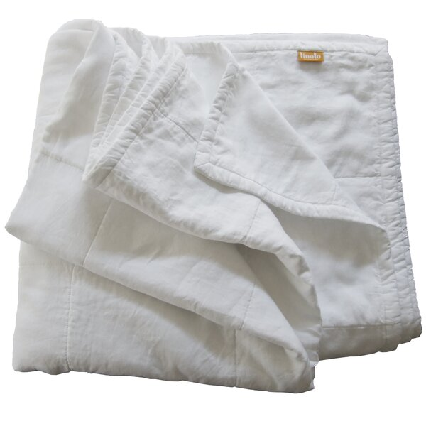 Quilted Linen Blanket by Linoto