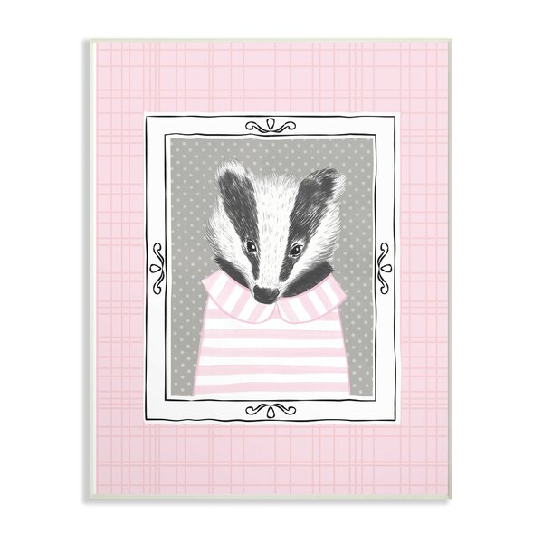Feinberg Badger Portrait Decorative Plaque by Harriet Bee