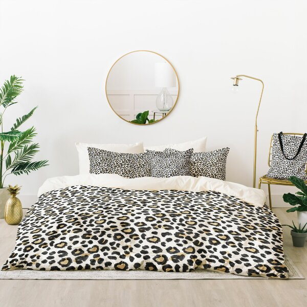 Dash and Ash Leopard Heart Duvet Cover Set