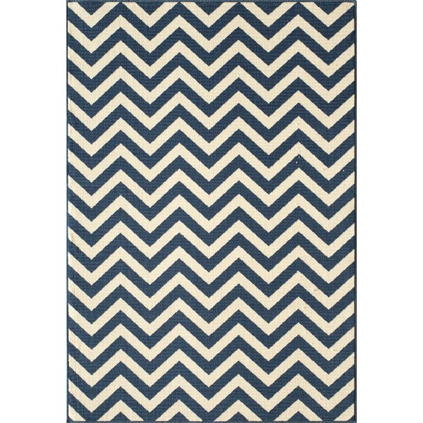 Halliday Navy/White Area Rug by Beachcrest Home