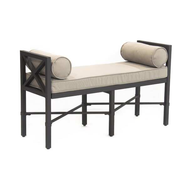 Camden Outdoor Aluminum Garden Bench by SE Brands