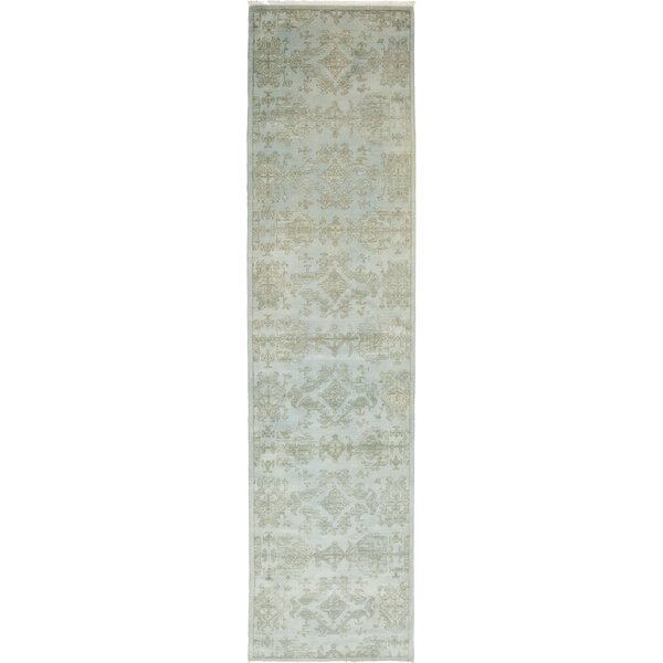 One-of-a-Kind Heimbach Hand-Knotted Wool Gray Indoor Area Rug by Bloomsbury Market
