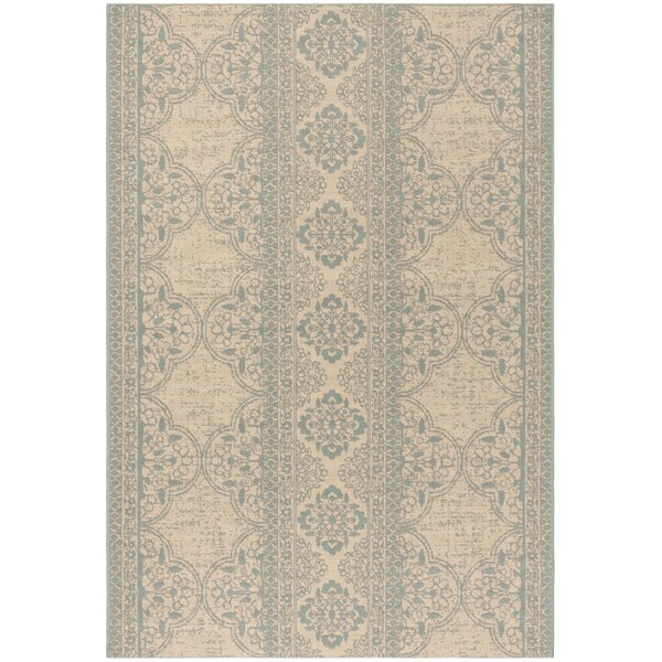 Dunnyvadden Aqua/Cream Area Rug by Canora Grey