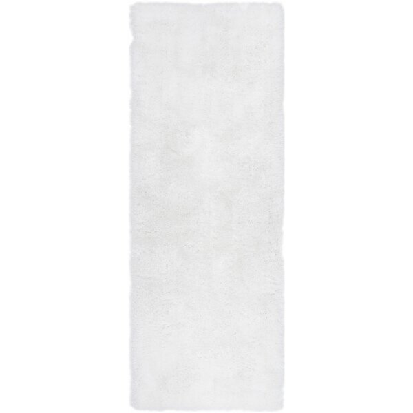 Mcclain Power Loom Polyester White Area Rug by Ivy Bronx