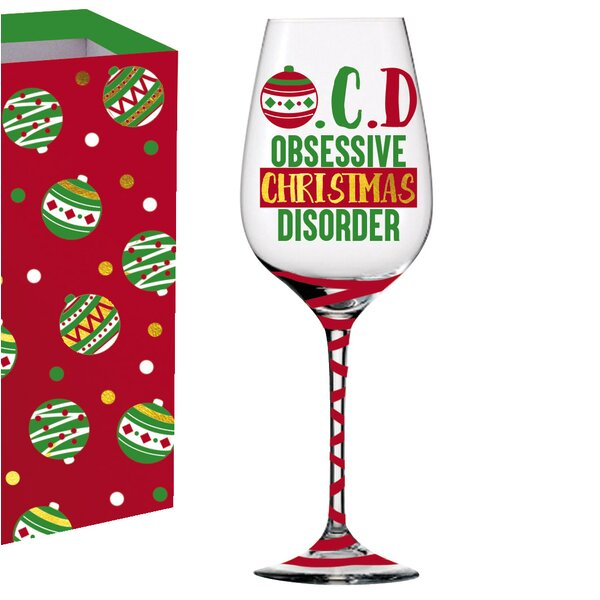 Jolie OCD Glass 12 oz. All Purpose Wine Glass by The Holiday Aisle