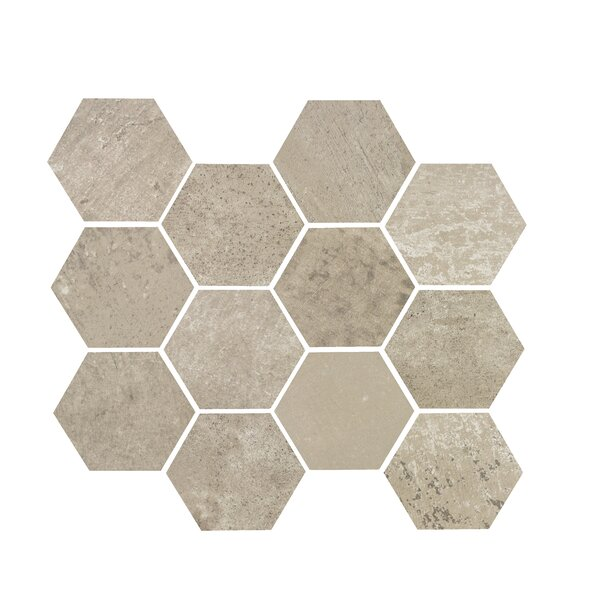 3.25 x 3.25 Porcelain Mosaic Tile in Ash Gray by Madrid Ceramics