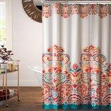 Bridgetown Damask Single Shower Curtain by World Menagerie