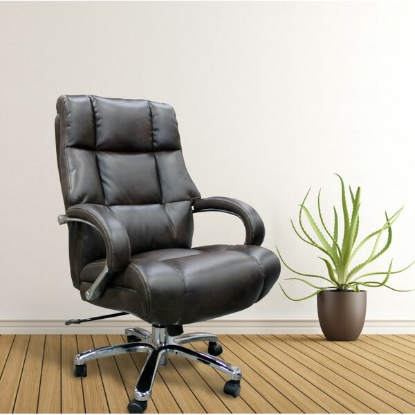 Trixie Heavy Duty Executive Desk Chair by Three Posts