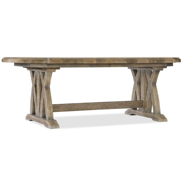 Boheme Colibri Trestle Solid Wood Dining Table By Hooker Furniture