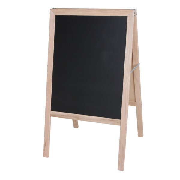 Crestline Natural Hardwood Marquee Double Sided Board Easel by Flipside Products