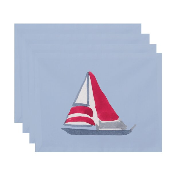 Harriet Sail Away Placemat (Set of 4) by Breakwater Bay