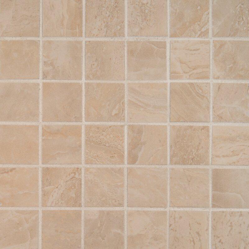 Msi Onyx 2 X 2 Porcelain Mosaic Tile In Sand Wayfair