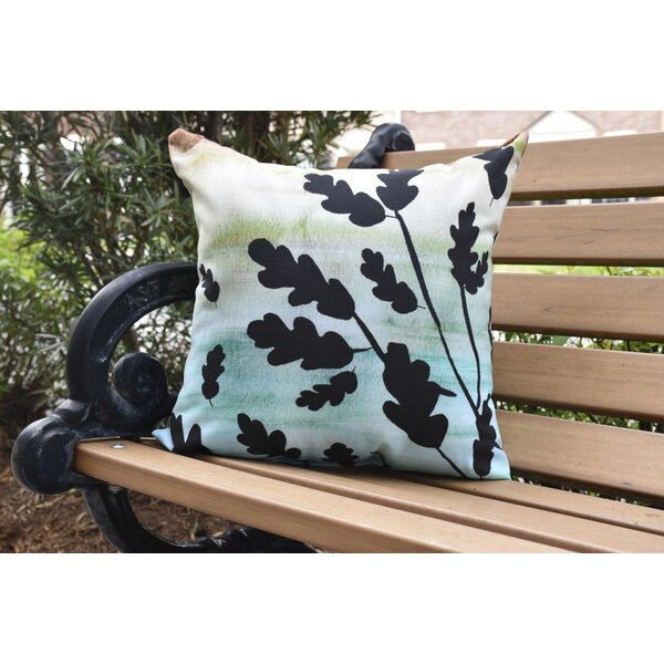 Lantana Flowing Leaves Floral Outdoor Throw Pillow by Winston Porter