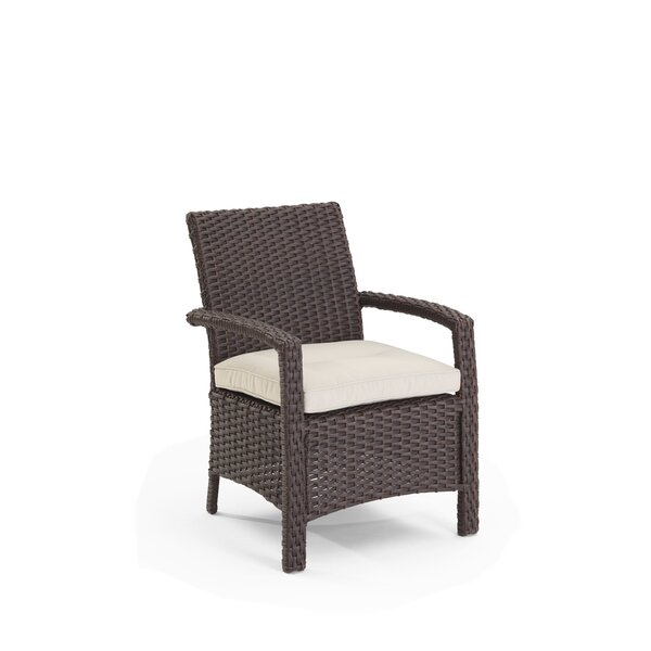 Farrar Patio Dining Chair with Cushions by Darby Home Co