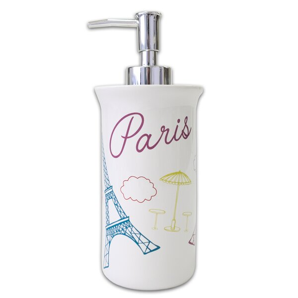 Paris France Lotion and Soap Dispenser by East Urban Home