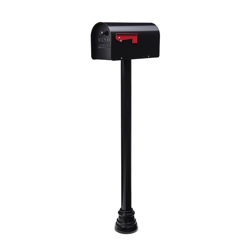 Bristol Mailbox Post Mounting Bracket Durable Black and Hardware Kit Postal Pro