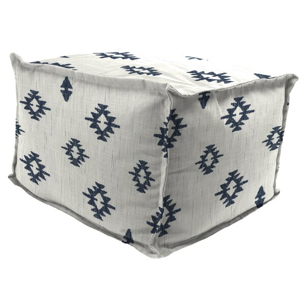 Spenser Outdoor Ottoman with Cushion by Wrought Studio