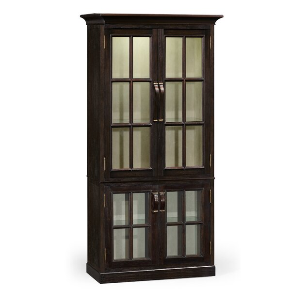 Plank Tall Lighted Curio Cabinet by Jonathan Charles Fine Furniture