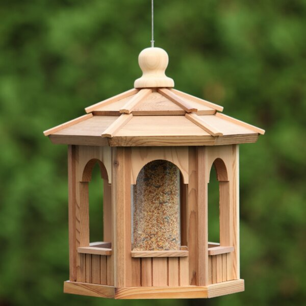 Hexagon Decorative Tube Bird Feeder by All Things Cedar