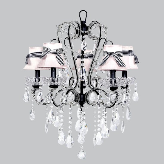 Carousel 5-Light Shaded Chandelier by Jubilee Collection