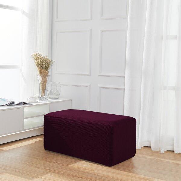 Spandex Jacquard Folding Storage Box Cushion Ottoman Slipcover By Winston Porter