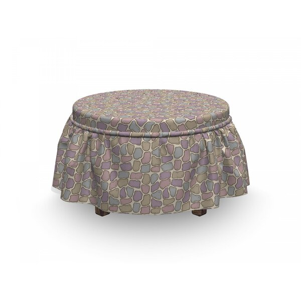 Stone Wall Ottoman Slipcover (Set Of 2) By East Urban Home