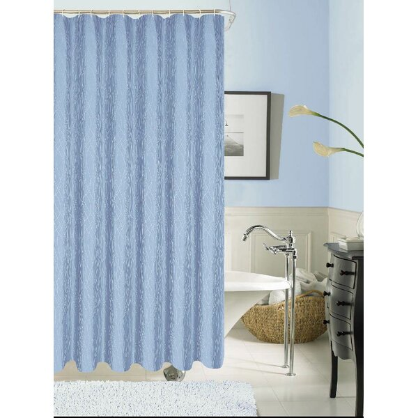 Staats Textured Shower Curtain by Red Barrel Studio