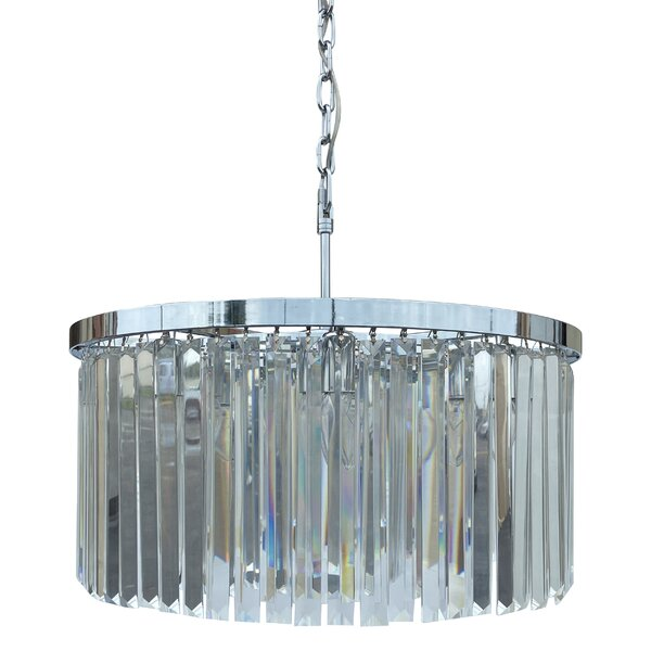 Shoup 8 - Light Unique Drum Chandelier by Everly Quinn Everly Quinn