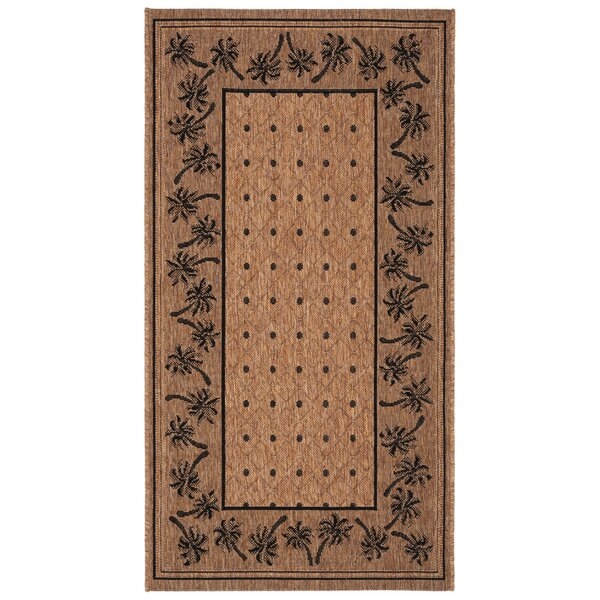 Amaryllis Coffee/Black Indoor/Outdoor Area Rug by Bay Isle Home
