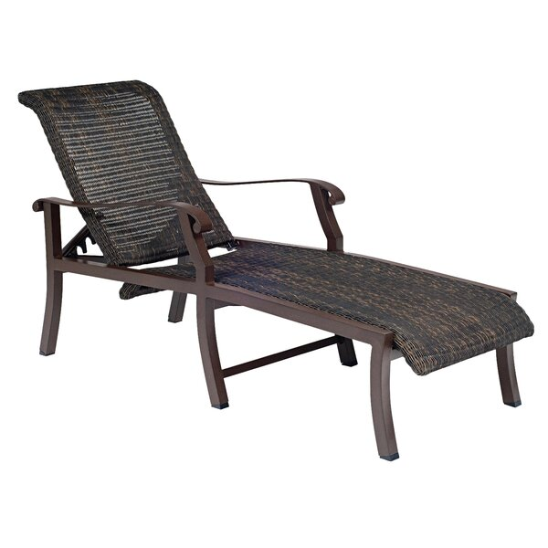 Cortland Woven Adjustable Chaise Lounge by Woodard