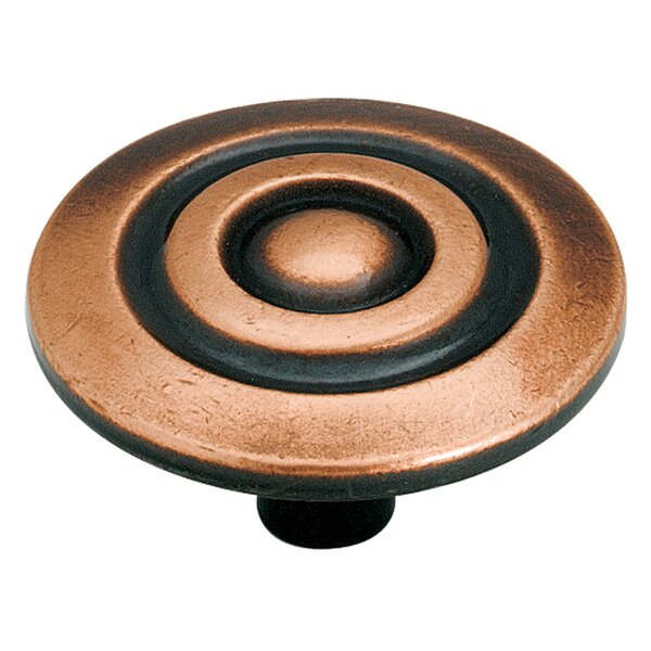 Allison Antique Copper Mushroom Knob by Amerock
