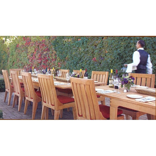 Ean Luxurious 13 Piece Teak Dining Set by Rosecliff Heights