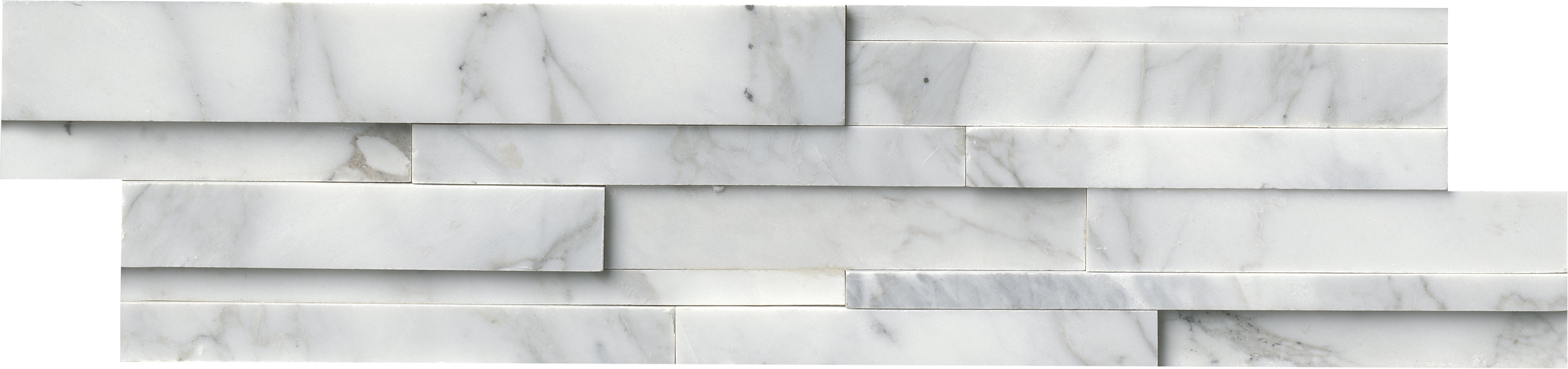 Msi 6 x 24 marble mosaic tile in whitegray reviews wayfair dailygadgetfo Gallery