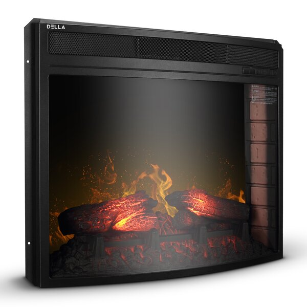 Brode Embedded Wall Mounted Electric Fireplace Insert By Winston Porter