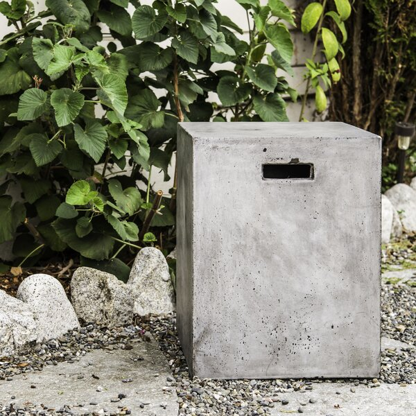 Eco-Concrete Square Urban Stool by My Spirit Garden