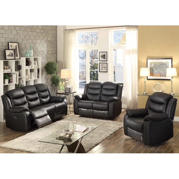 Bennett Reclining 3 Piece Leather Living Room Set by AC Pacific