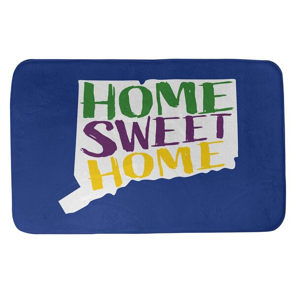 Home Sweet Connecticut Rectangle Non-Slip Does Not Apply Bath Rug