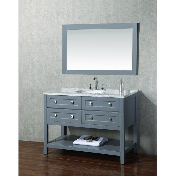 Whaley 48 Single Modern Bathroom Vanity Set with Mirror by Brayden Studio
