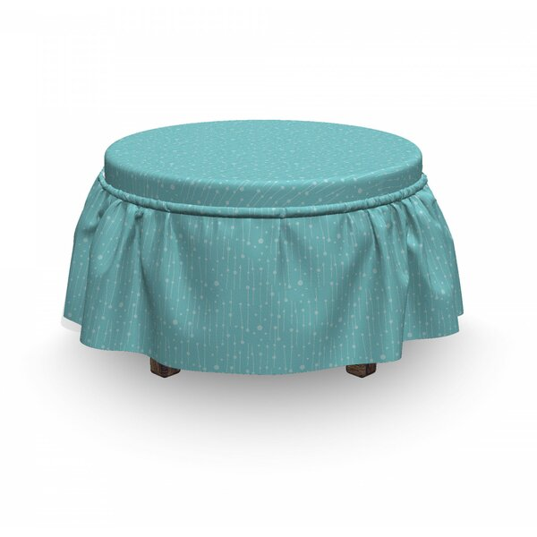 Soft Tiny Dots And Stripes Ottoman Slipcover (Set Of 2) By East Urban Home