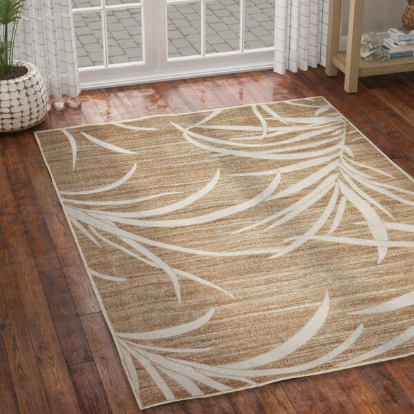 Spathariko Beige Indoor/Outdoor Area Rug by Bay Isle Home
