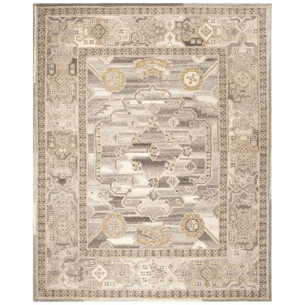 Amory Hand-Tufted Wool Light Gray Area Rug by Charlton Home